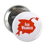 "Fish Wrangler - Hate Fish Logo 2.25"" Button"