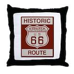 Siberia Route 66 Throw Pillow