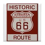 Siberia Route 66 Tile Coaster
