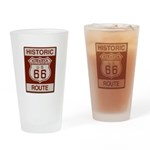 Siberia Route 66 Drinking Glass