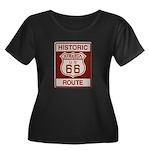 Siberia Route 66 Women's Plus Size Scoop Neck Dark