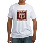 Siberia Route 66 Fitted T-Shirt