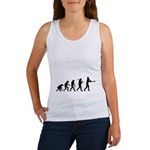 Evolution of the Baseball Player 1 Women's Tank To
