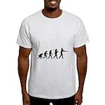 Evolution of the Baseball Player 1 Light T-Shirt