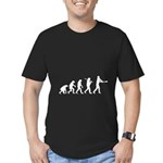 Evolution of the Baseball Player 2 Men's Fitted T-
