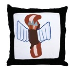 Bacon Cupid Throw Pillow