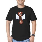 Bacon Cupid Men's Fitted T-Shirt (dark)