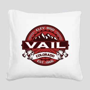 Vail Red Square Canvas Pillow