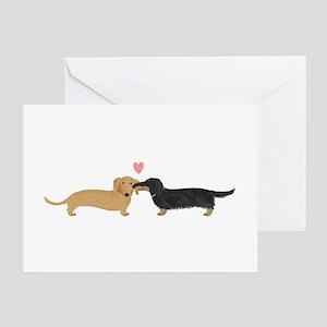 Dachshund Smooch Greeting Card