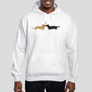 Dachshund Smooch Hooded Sweatshirt