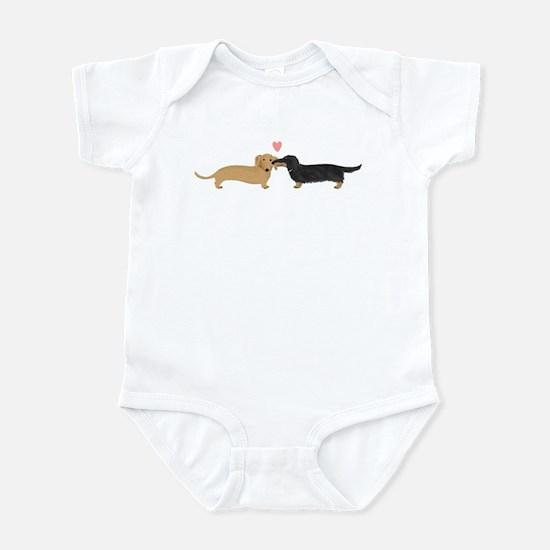 Dachshund Smooch Infant Bodysuit