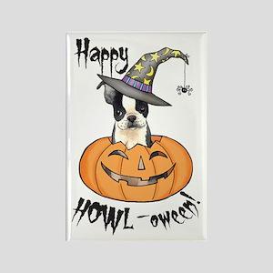 Halloween Boston Terrier Rectangle Magnet