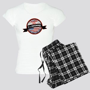 Croatian American 2x Awesome Women's Light Pajamas