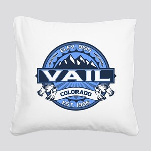 Vail Blue Square Canvas Pillow