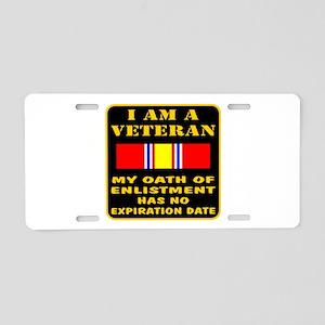 I Am A Veteran Aluminum License Plate
