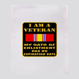 I Am A Veteran Throw Blanket