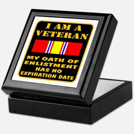I Am A Veteran Keepsake Box