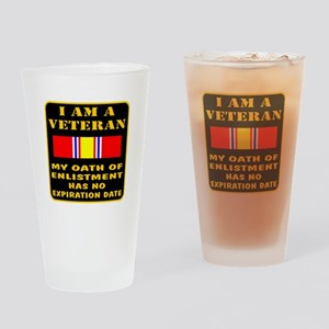 I Am A Veteran Drinking Glass