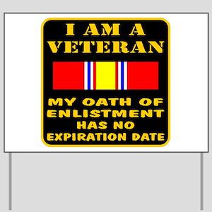 I Am A Veteran Yard Sign