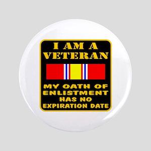 """I Am A Veteran 3.5"""" Button"""