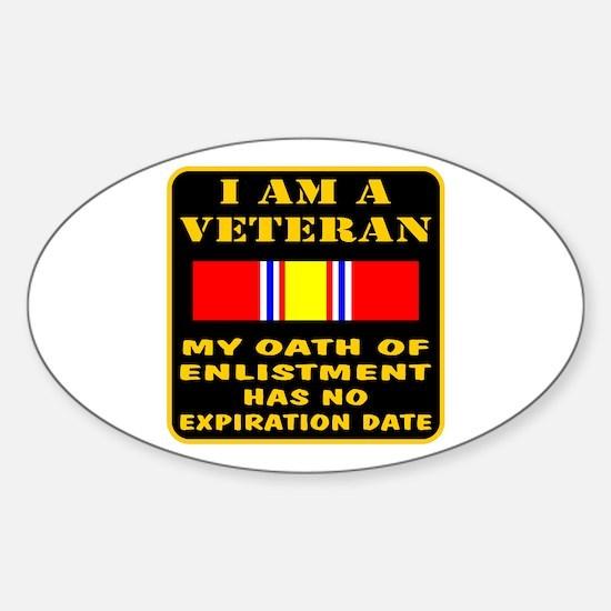 I Am A Veteran Sticker (Oval)
