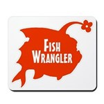 Fish Wrangler - Hate Fish Logo Mousepad