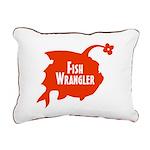 Fish Wrangler - Hate Fish Logo Rectangular Canvas