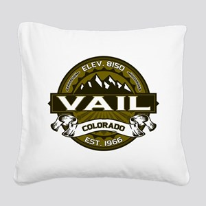 Vail Olive Square Canvas Pillow