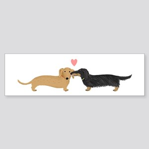 Dachshund Smooch Sticker (Bumper)