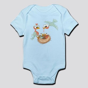 Bird Family Infant Bodysuit