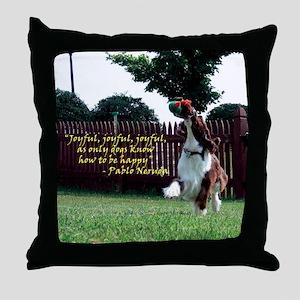 Joyful! Throw Pillow
