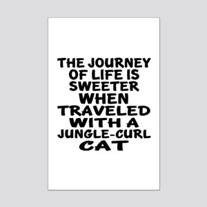 Traveled With jungle-curl Cat Mini Poster Print