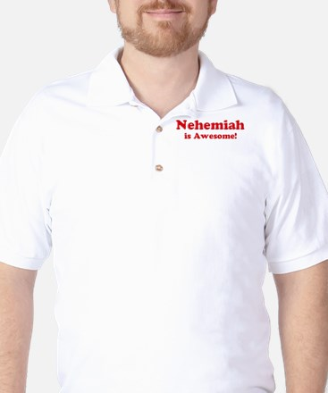 Nehemiah is Awesome Golf Shirt