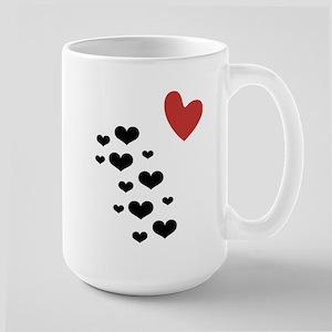 Litter of Hearts Large Mug