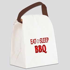Eat Sleep BBQ Canvas Lunch Bag