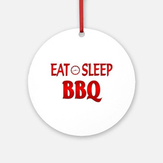 Eat Sleep BBQ Ornament (Round)