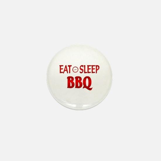Eat Sleep BBQ Mini Button