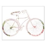 Floral Vintage Bicycle Small Poster