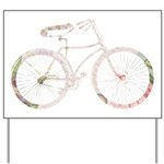 Floral Vintage Bicycle Yard Sign