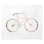Floral Vintage Bicycle King Duvet