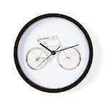 Floral Vintage Bicycle Wall Clock