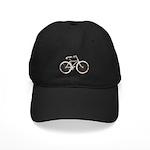Floral Vintage Bicycle Black Cap