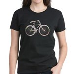 Floral Vintage Bicycle Women's Dark T-Shirt