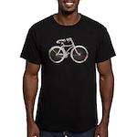 Floral Vintage Bicycle Men's Fitted T-Shirt (dark)