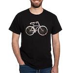 Floral Vintage Bicycle Dark T-Shirt