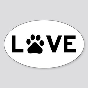 Love Paw Sticker (Oval)