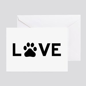 Love Paw Greeting Card