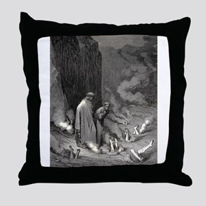Gustave Dore - The Simonists Throw Pillow