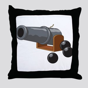 Cannonball Throw Pillow