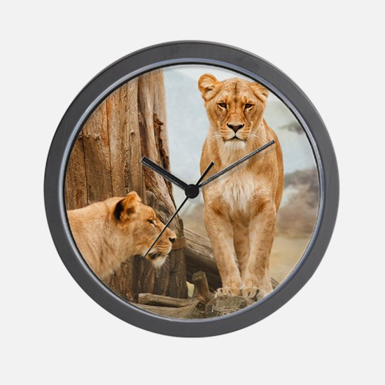 Lions at rest Wall Clock